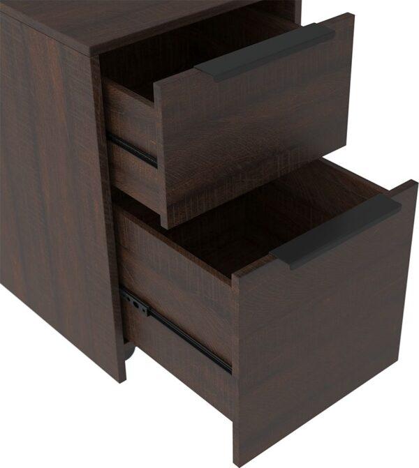 Camiburg - Warm Brown - Desk, File Cabinet & Swivel Desk Chair 3