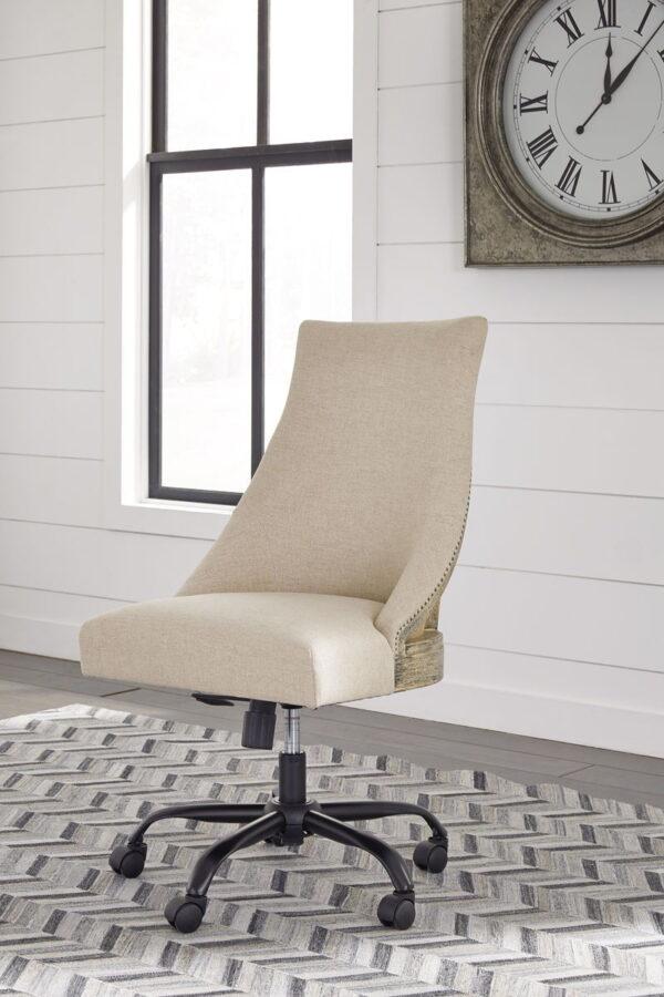 Camiburg - Warm Brown - Desk, File Cabinet & Swivel Desk Chair 7