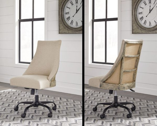 Camiburg - Warm Brown - Desk & Swivel Desk Chair 3