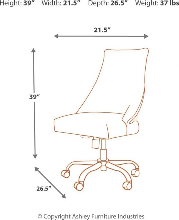 Camiburg - Warm Brown - Desk & Swivel Desk Chair 5