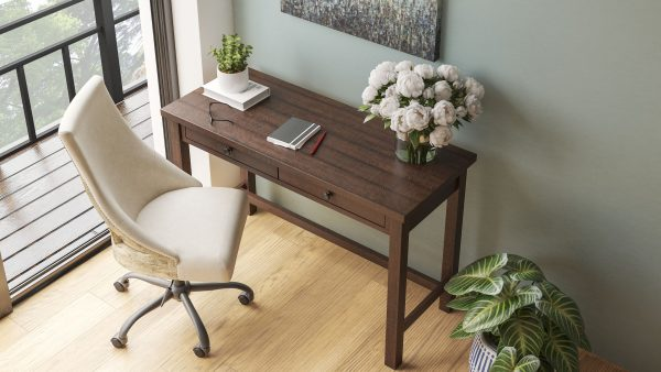 Camiburg - Warm Brown - Desk & Swivel Desk Chair