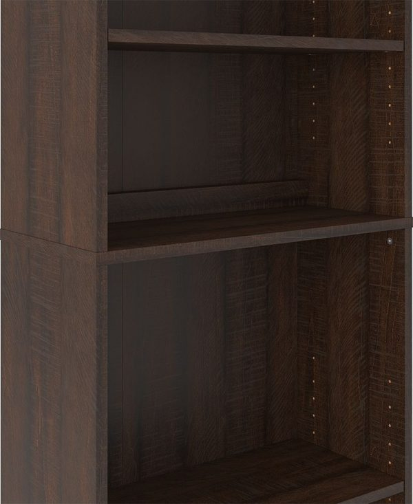 Camiburg - Warm Brown - L-Desk with Storage, Bookcase & Swivel Desk Chair 3