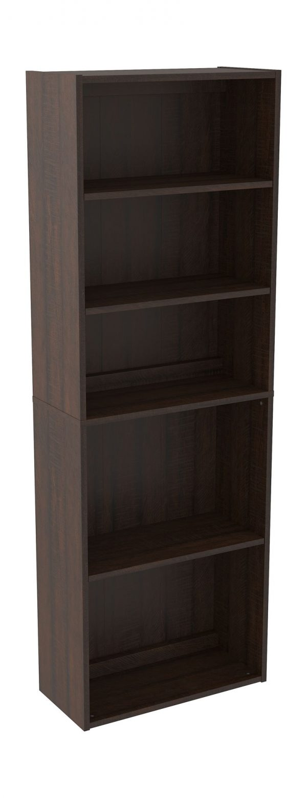 Camiburg - Warm Brown - L-Desk with Storage, Bookcase & Swivel Desk Chair 4