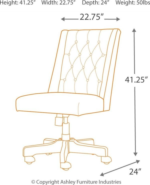 Camiburg - Warm Brown - L-Desk with Storage, Bookcase & Swivel Desk Chair 6