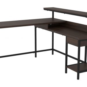 Camiburg - Warm Brown - L-Desk with Storage