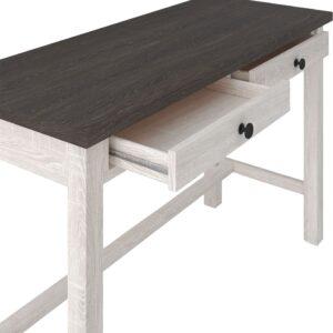 Dorrinson - Two-tone - Desk, File Cabinet & Swivel Desk Chair 1