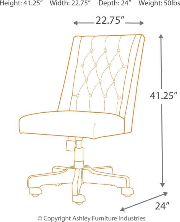Dorrinson - Two-tone - Desk, File Cabinet & Swivel Desk Chair 5