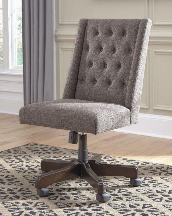 Dorrinson - Two-tone - Desk, File Cabinet & Swivel Desk Chair 6