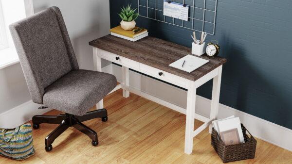 Dorrinson - TDorrinson - Two-tone - Desk & Swivel Desk Chairwo-tone - Desk & Swivel Desk Chair