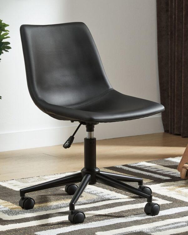Dorrinson - Two-tone - L-Desk with Storage & Swivel Desk Chair 4