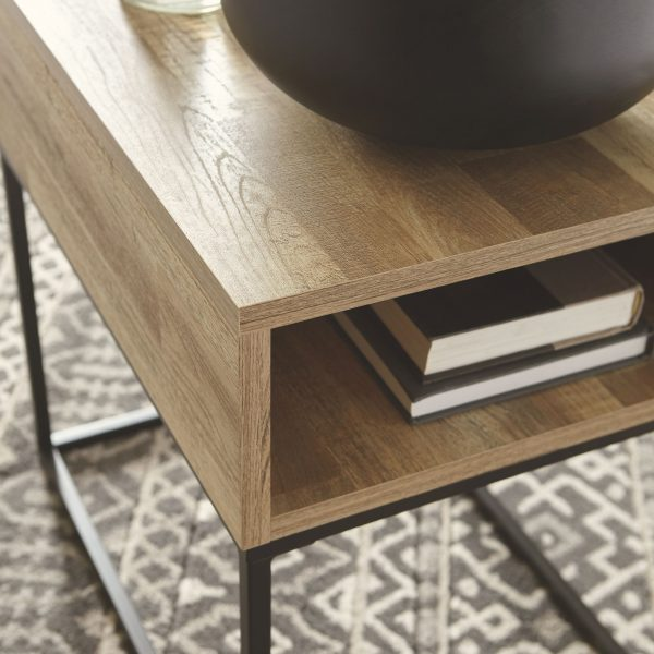 Gerdanet - Natural - Rectangular End Table 1