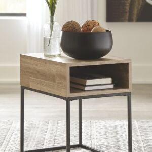 Gerdanet - Natural - Rectangular End Table