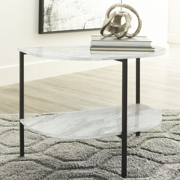 Donnesta - Gray/Black - Chair Side End Table