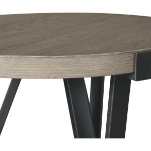Zontini - Light Brown - Round End Table 1
