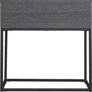 Yarlow - Black - Rectangular End Table 1