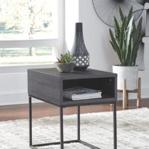 Yarlow - Black - Rectangular End Table