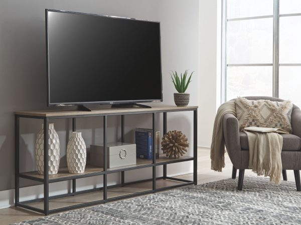Wadeworth - Brown/Black - Extra Large TV Stand