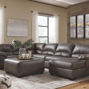Aberton - Gray - 3-Piece Sectional with Chaise 1