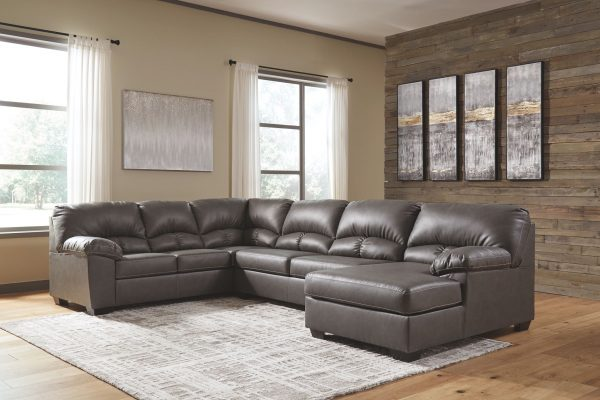 Aberton - Gray - 3-Piece Sectional with Chaise