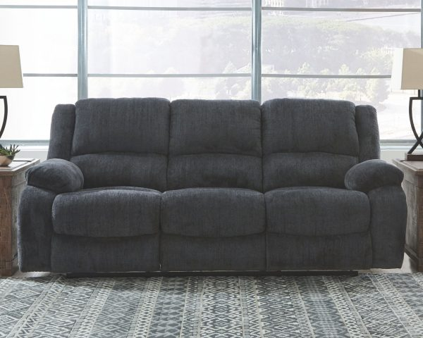 Draycoll - Slate - REC Sofa & DBL REC Loveseat with Console 1