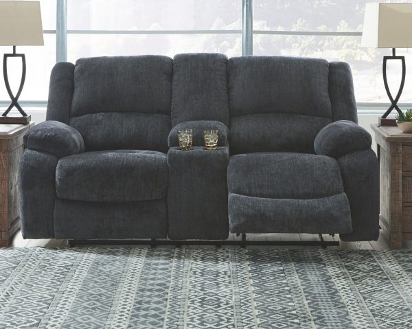 Draycoll - Slate - REC Sofa & DBL REC Loveseat with Console 2