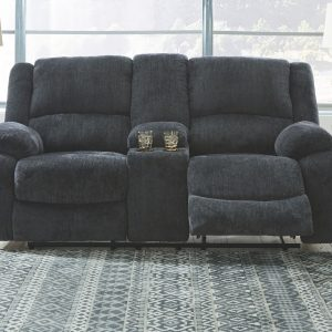 Draycoll - Slate - DBL Rec Loveseat w/Console