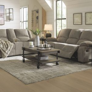 Draycoll - Pewter - REC Sofa & DBL REC Loveseat with Console 1