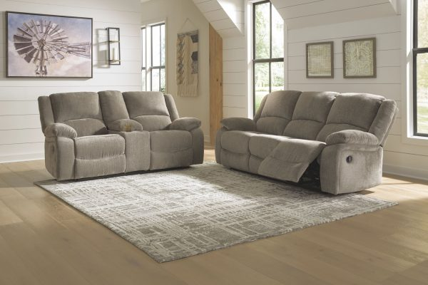 Draycoll - Pewter - REC Sofa & DBL REC Loveseat with Console