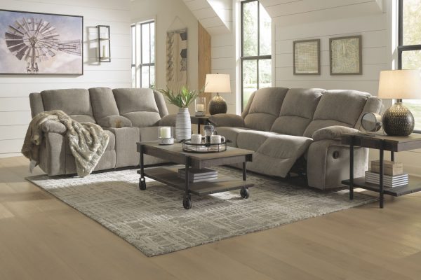 Draycoll - Pewter - DBL Rec Loveseat w/Console 3