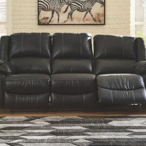 Calderwell - Black - Reclining Sofa 1