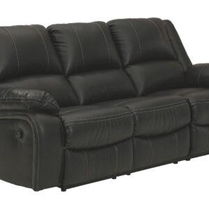 Calderwell - Black - Reclining Sofa