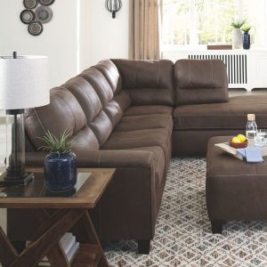 Navi - Chestnut - 2-Piece Sectional with Chaise 1