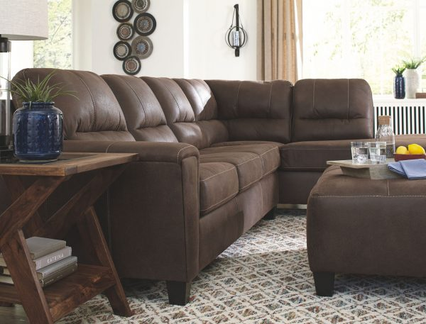 Navi - Chestnut - 2-Piece Sectional with Chaise 2