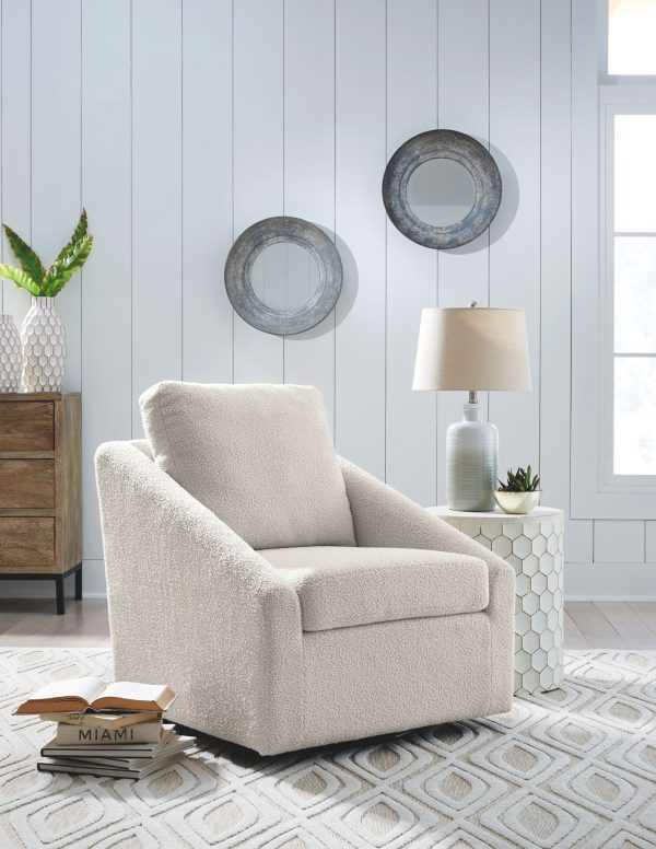 Wysler - Cream - Swivel Accent Chair