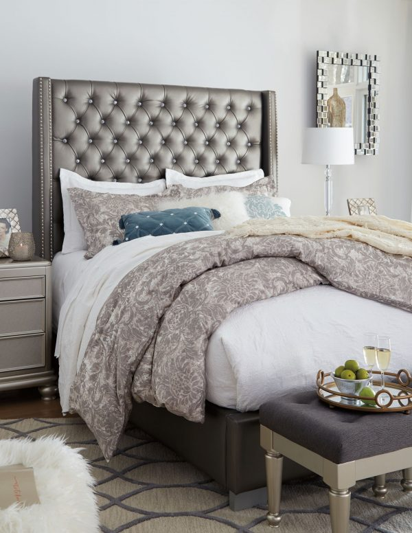 Coralayne - Silver - California King UPH Bed 2