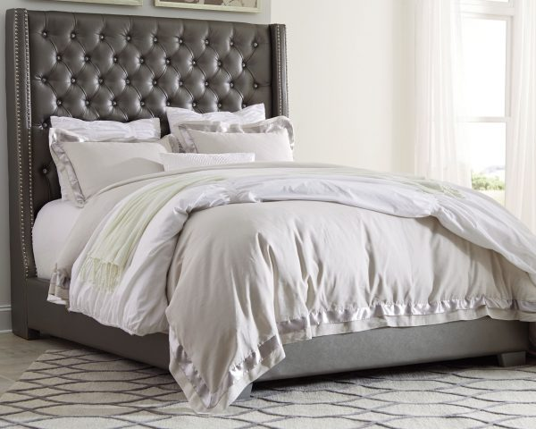 Coralayne - Silver - California King UPH Bed