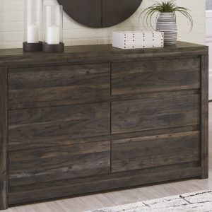 Vay Bay - Charcoal - Dresser & Mirror 1