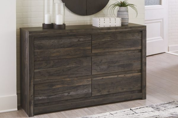 Vay Bay - Charcoal - Dresser & Mirror 1