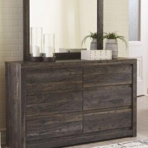 Vay Bay - Charcoal - Dresser & Mirror
