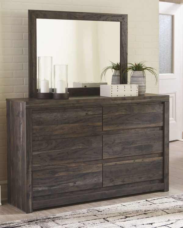 Vay Bay - Charcoal - Dresser & Mirror
