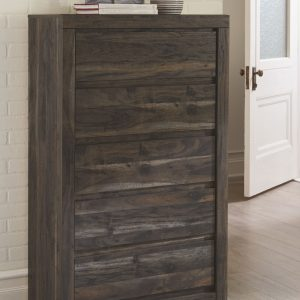 Vay Bay - Charcoal - Five Drawer Chest