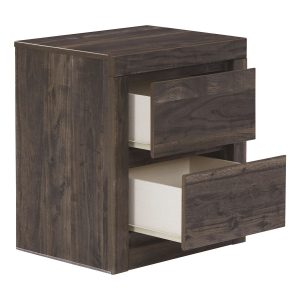 Vay Bay - Charcoal - Two Drawer Night Stand 1