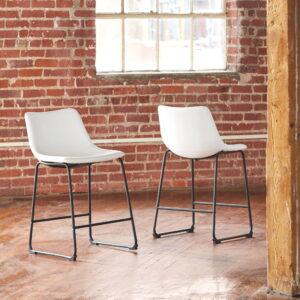 Centiar - White - Upholstered Barstool (2/CN)