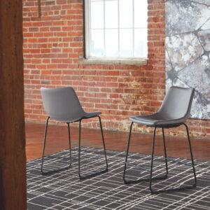 Centiar - Gray - Upholstered Barstool (2/CN)