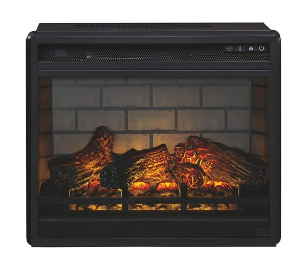 Trinell - Brown - 63 TV Stand with Electric Fireplace 2
