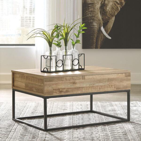Gerdanet - Natural - Lift Top Cocktail Table