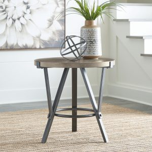 Zontini - Light Brown - Round End Table